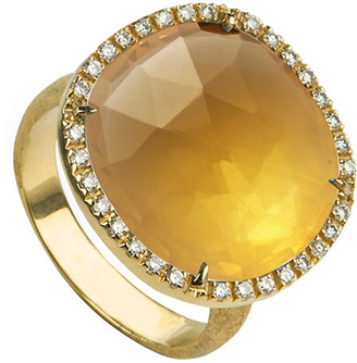 Marco Bicego Jaipur 18K 0.24 Ct. Tw. Diamond & Citrine Cocktail Ring
