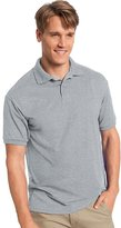 Hanes Cotton-Blend Men`s Jersey Polo, 054X, L