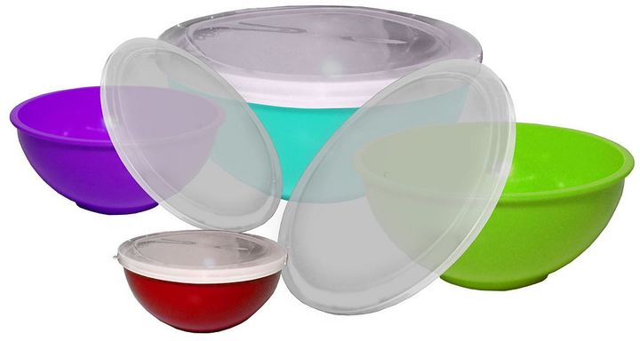 Gourmet home products 8-pc. melamine multicolor mixing bowl set