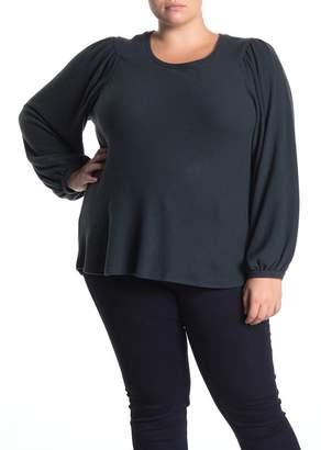H By Bordeaux Poet Sleeve Knit Sweater (Plus Size)