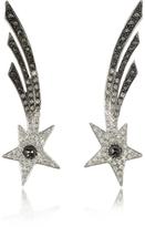 Bernard Delettrez Shooting Stars White Gold Earrings w/Diamonds