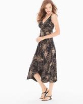 Soma Intimates Scarf-Hem Sleeveless Midi Dress Balmy Bloom Soft Tan