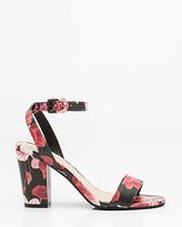 Le Château Floral Print Ankle Strap Sandal
