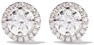 De Beers 18kt white gold My First Aura diamond stud earrings