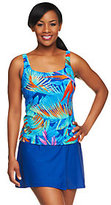 Gottex Silver by Blue Paradise Tankini w/ Faux Wrap Skirtini
