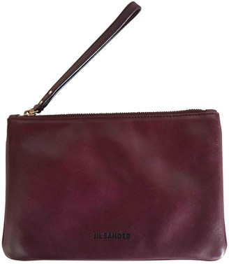 Jil Sander Burgundy Leather Clutch bags