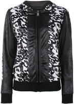 Plein Sport tonal floral print jacket