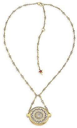 Plevé Pirouette 18K Yellow Gold & Diamond Pendant Necklace