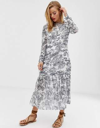 Stevie May Cinema paisley print midi dress-White