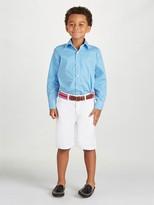 Oscar de la Renta Gingham Cotton Long Sleeve Dress Shirt