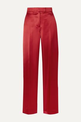 Helmut Lang Satin Straight-leg Pants - Claret