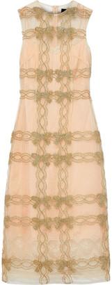 Simone Rocha Tinsel-trimmed Tulle Midi Dress