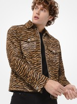 Michael Kors Tiger Calf Hair Trucker Jacket