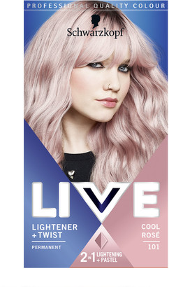 Schwarzkopf Live Colour Lightener + Twist 101 Cool Rose