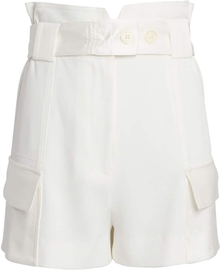 Derek Lam 10 Crosby Belted Crepe Linen Shorts