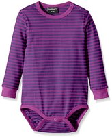 Maxomorra Unisex Baby BASI-M015 Long Sleeve Striped Bodysuit