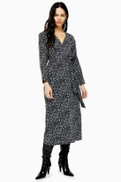 Topshop Womens Black And White Tie Smock Dress - Monochrome