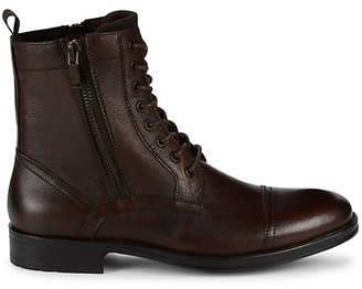 Kenneth Cole New York Dual-Zip Leather Paddock Boots