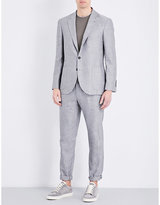 Brunello Cucinelli Leisure-fit Linen And Wool-blend Suit
