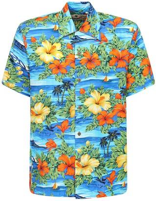 Karmakula San Andres Blue Printed Hawaiian Shirt