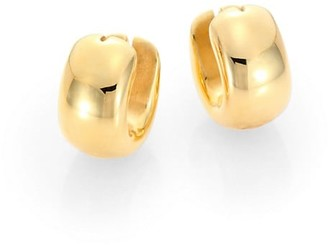 Roberto Coin 18K Yellow Gold Huggie Hoop Earrings/0.6""