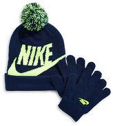 Nike Logo Beanie and Gloves Set