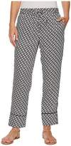 Lauren Ralph Lauren Geo-Print Twill Pants Women's Casual Pants