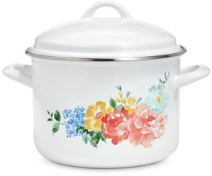 Martha Stewart Collection Garden Party 6-Qt. Enamel on Steel Floral Dutch Oven, Created for Macy's