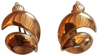 Trifari Gold Steel Earrings