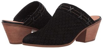 Frye AND CO. Jacy Perf Mule (Black Suede/Waxed Leather) Women's Clog/Mule Shoes