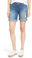 KUT from the Kloth Women's Catherine Distressed Denim Boyfriend Shorts