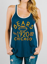 Junk Food Clothing Nfl Chicago Bears Tank-new Navy/sugar-xs