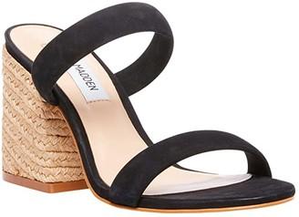 Steve Madden Marcella Heeled Sandal (Black Nubuck) Women's Shoes