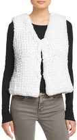 Aqua Knit Faux Fur Vest - 100% Exclusive