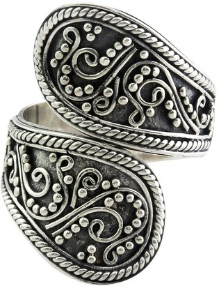 Novica Artisan Crafted Sterling Wrap Ring