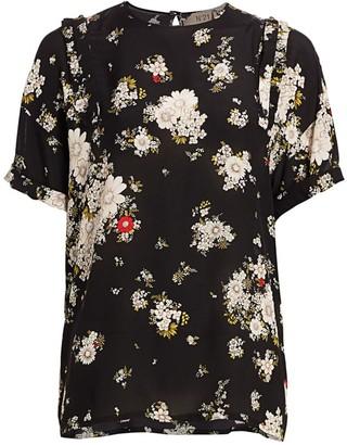 No.21 Floral Short-Sleeve Blouse
