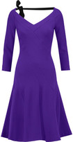Roland Mouret Curtis Wool-Crepe Fluted Dress