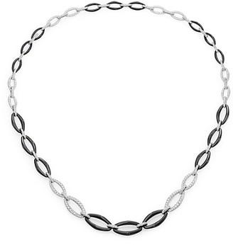 Kwiat Madison Avenue 18K White Gold & White Diamonds Rolo Chain Necklace