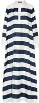 Dolce & Gabbana Oversized Striped Silk-twill Kaftan - Navy