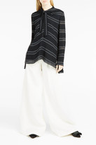Proenza Schouler Striped Neck-Tie Blouse