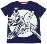 Gucci Bird Printed Cotton Jersey T-Shirt