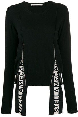 Stella McCartney Logo Insert Long-Sleeve Jumper