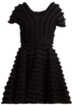 Emilio De La Morena Zelda Ruffled Cocktail Dress - Womens - Black