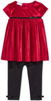 First Impressions Baby Girls' 2-Pc. Pleated Velvet Tunic & Leggings Set, Only at Macy's