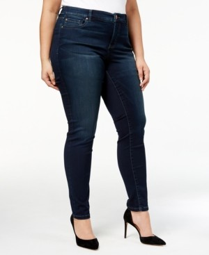 INC International Concepts Inc Plus Size Tummy Control Beyond Stretch Skinny Jeans, Created for Macy's