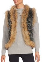 Saks Fifth Avenue Rabbit & Coyote Fur Sleeveless Vest