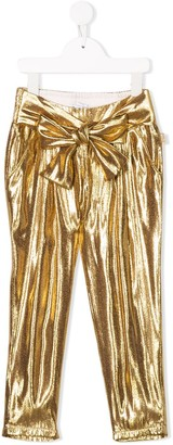 The Marc Jacobs Kids Pleated Metallic Trousers