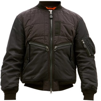Burberry Padded Shell Bomber Jacket - Black