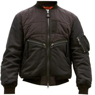 Burberry Padded Shell Bomber Jacket - Mens - Black