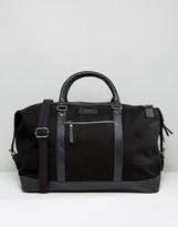 SANDQVIST Cotton Canvas & Leather Weekend Bag